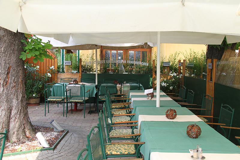 Gastgarten im Landgasthaus Sittinger